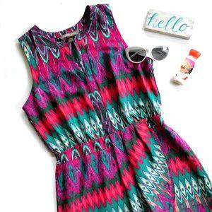 {Charlie Jade} slit neck sleeveless dress